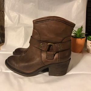 Lucky Brand LK Bambi Leather Heeled Ankle Boots